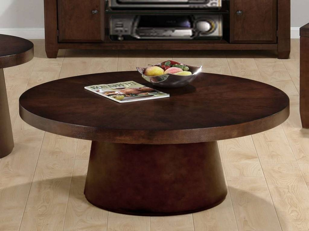 How To Decorate A Round Coffee Table. Small Round Coffee Table pertaining to Dark Brown Coffee Tables (Image 25 of 30)