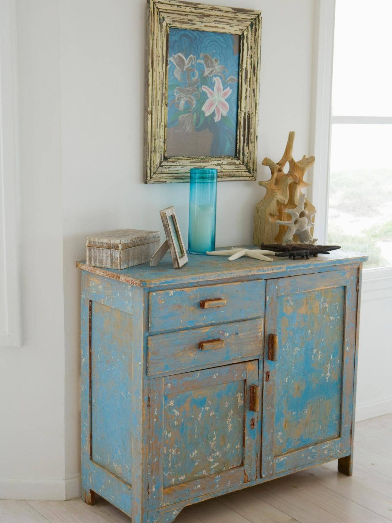 How To Distress Furniture | Hgtv with Distressed Wood Sideboards (Image 17 of 30)