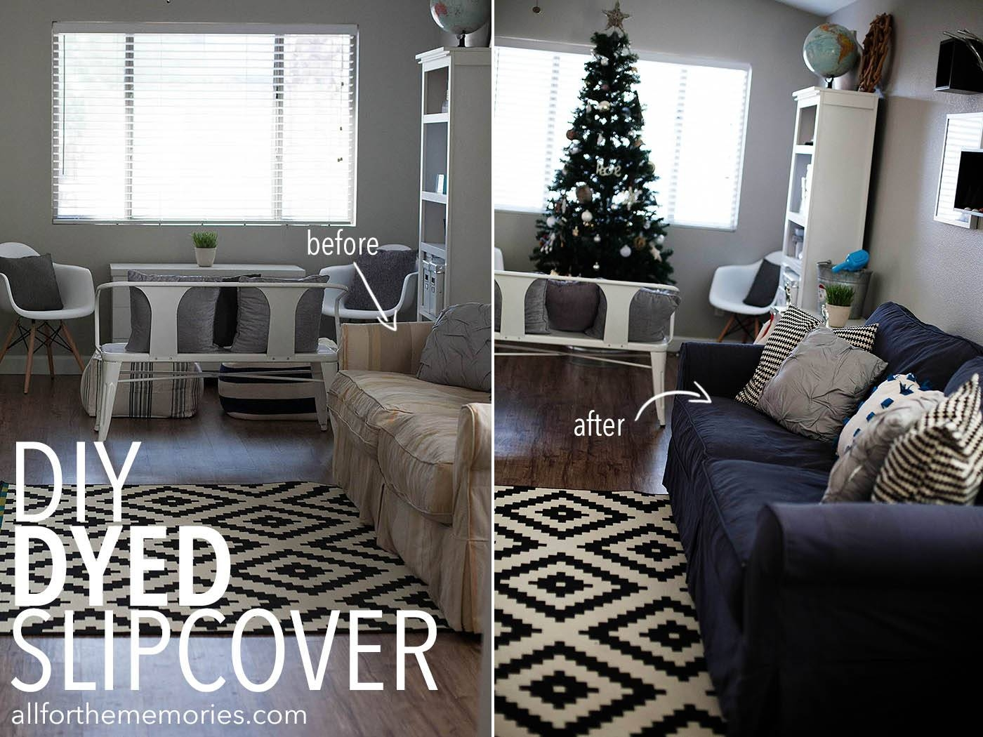 How To Dye A Sofa Slipcover inside Black Slipcovers for Sofas (Image 16 of 30)
