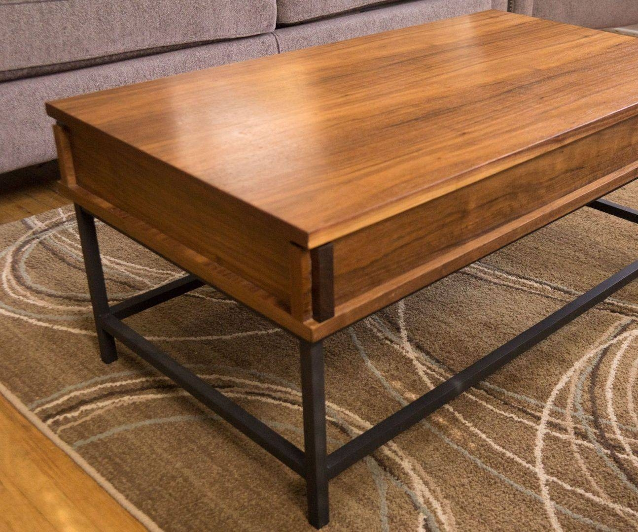 How To Make A Coffee Table With Lift Top: 18 Steps (With Pictures) Within Raise Up Coffee Tables (View 26 of 30)