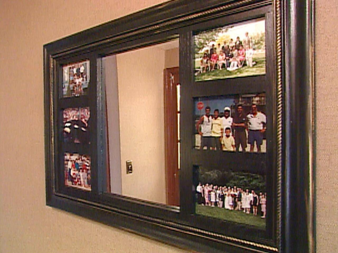 How To Make A Mirrored Photo Frame | Hgtv in Gilt Framed Mirrors (Image 10 of 25)