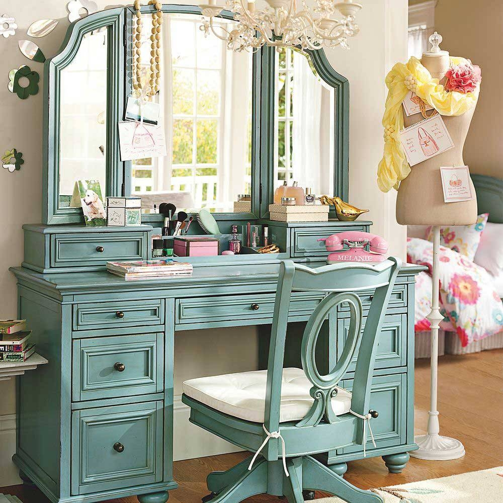 How To Make A Vanity Table With Mirror | Creative Vanity Decoration in Decorative Dressing Table Mirrors (Image 17 of 25)