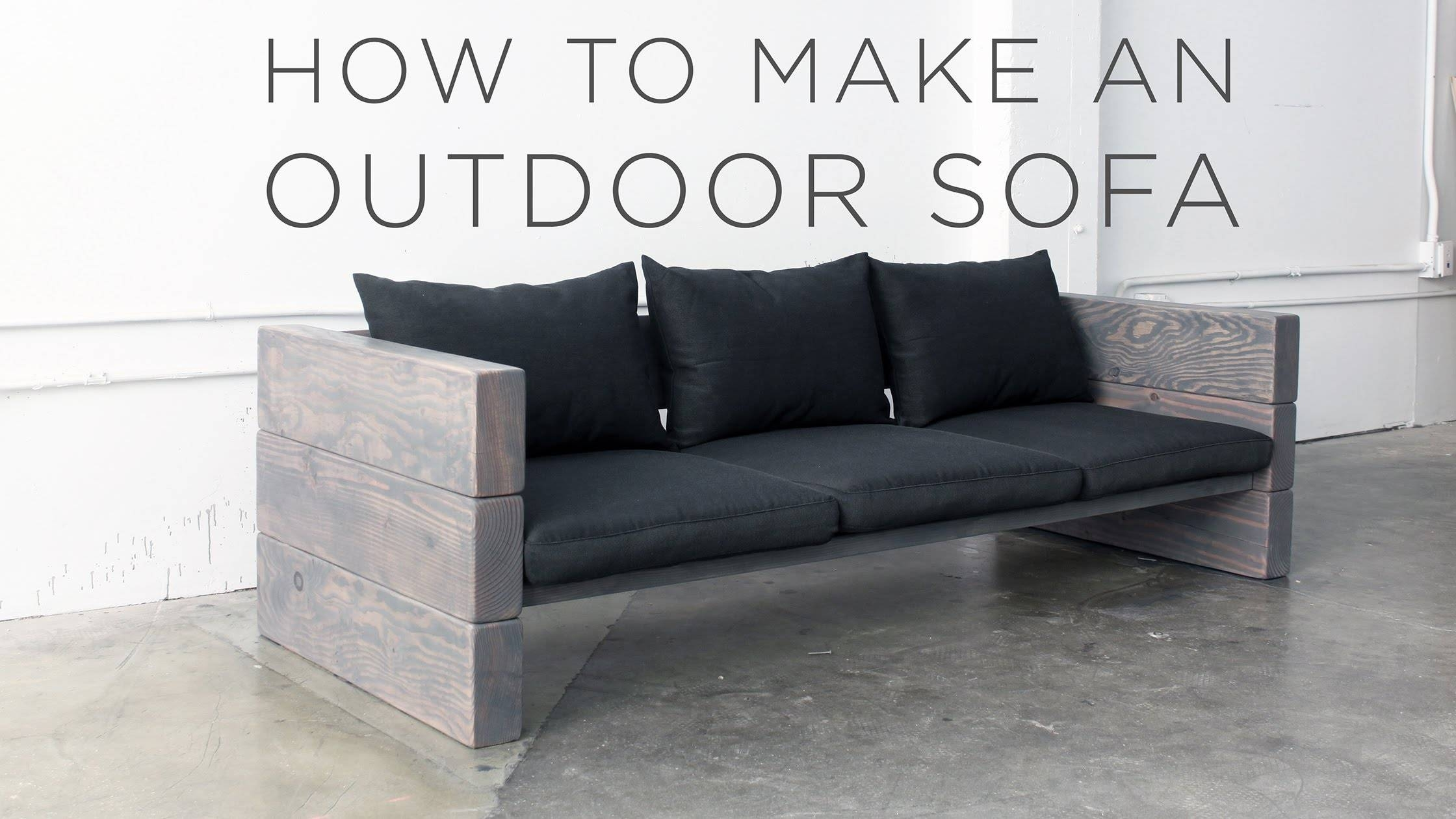 How To Make An Outdoor Sofa - Youtube regarding Diy Sectional Sofa Plans (Image 15 of 30)