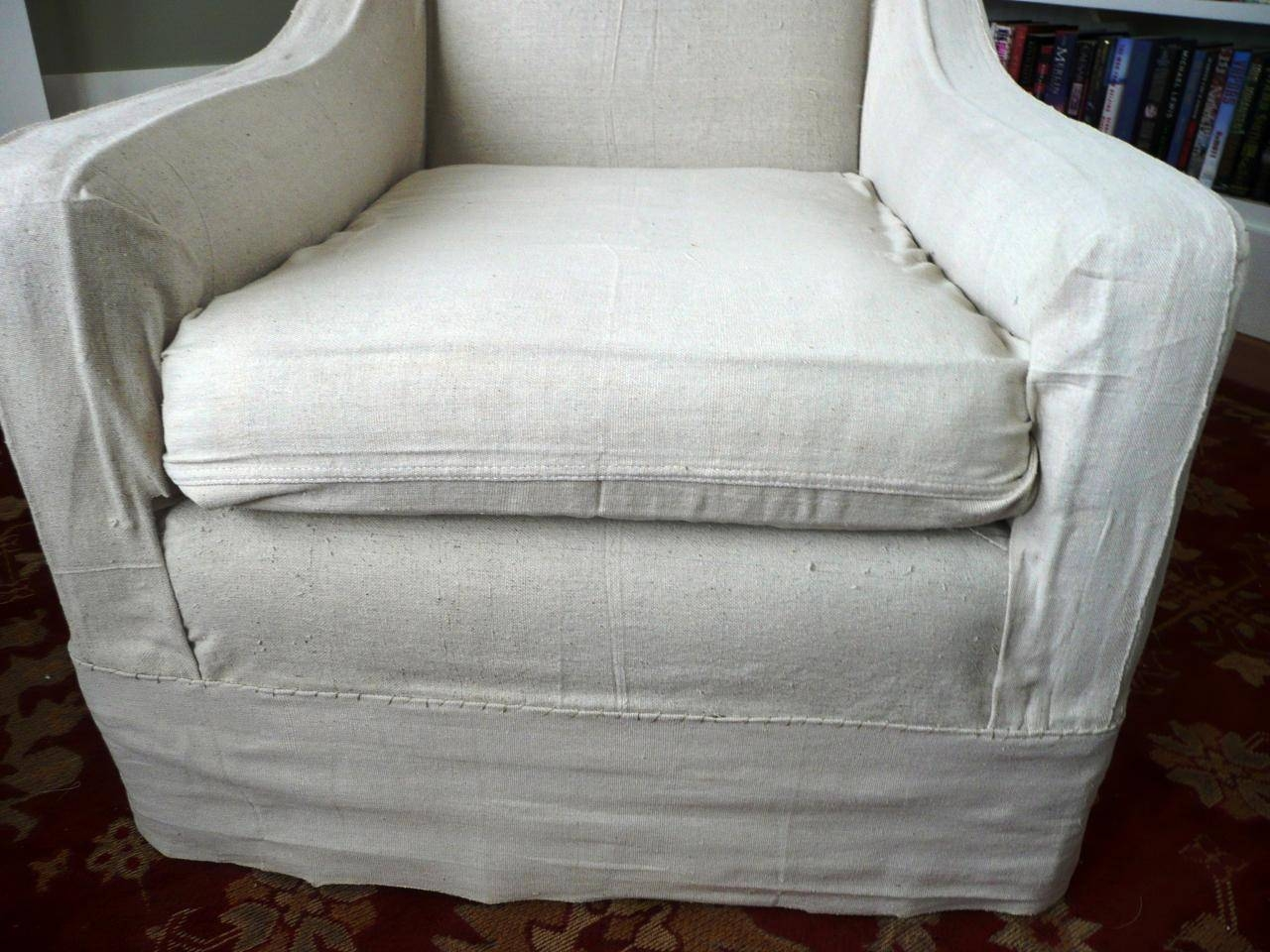 How To Make Arm Chair Slipcovers For Less Than $30 | How Tos | Diy With Regard To Slipcovers For Chairs And Sofas (View 10 of 15)