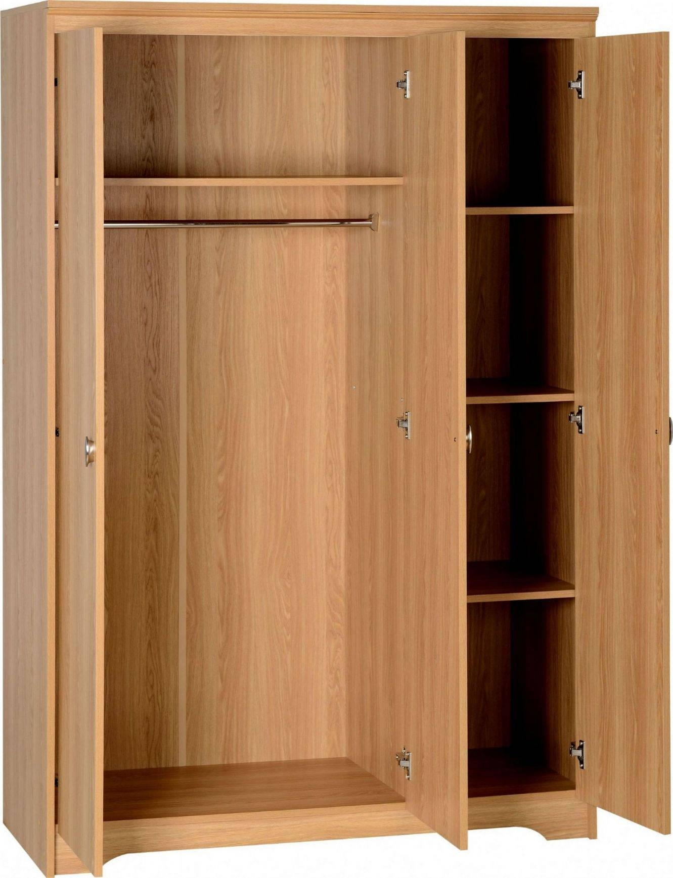 How To Make Wooden Wardrobe Doors, How To Make Writing Desk, How for 3 Door Wardrobe With Drawers and Shelves (Image 19 of 30)