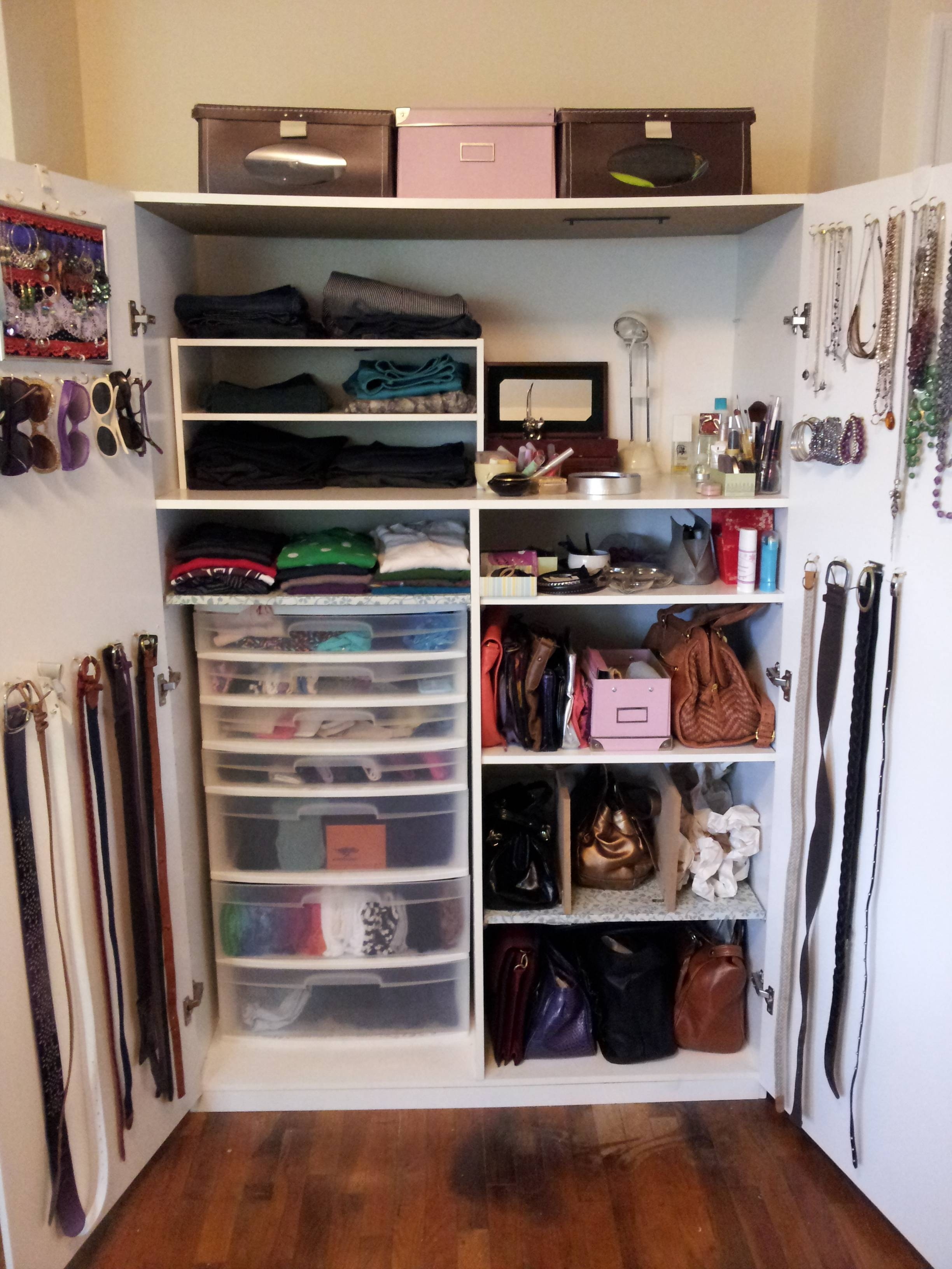 How To Organize A Lot Of Clothing In Very Little Closet Space throughout Bedroom Wardrobe Storages (Image 22 of 30)