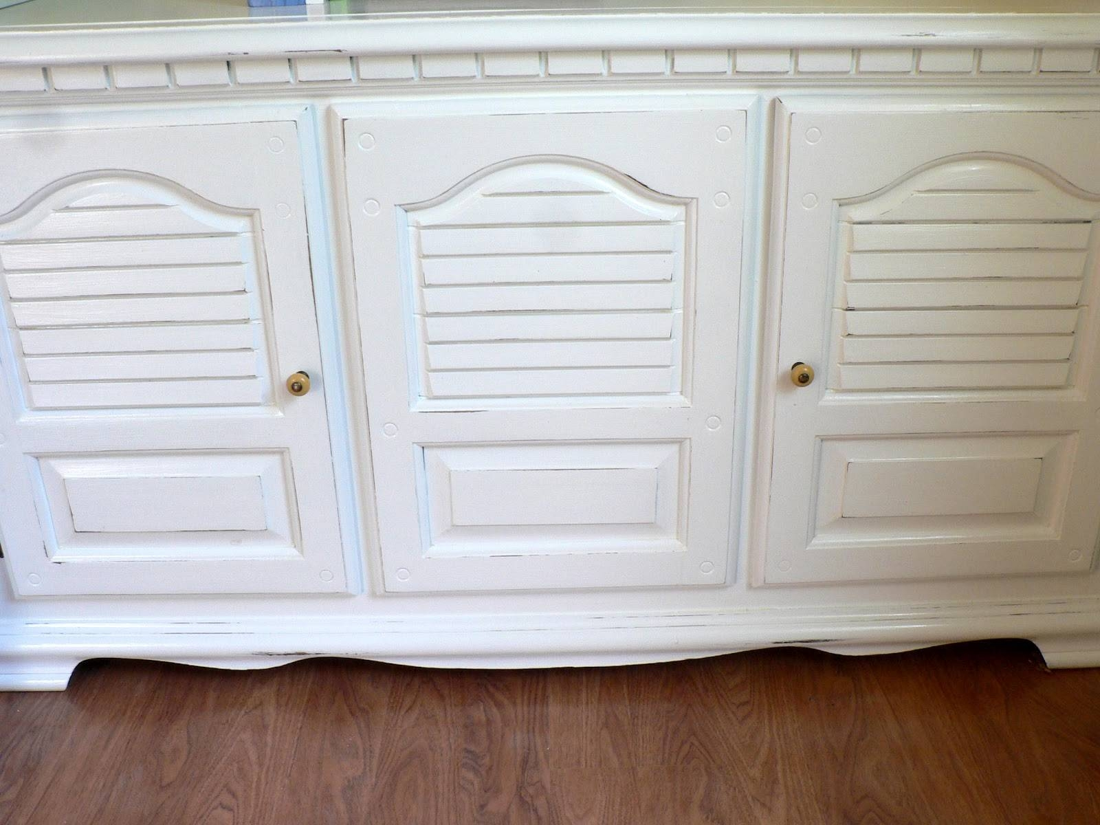 How To: Paint Furniture - Bless This Mess with White Distressed Finish Sideboards (Image 26 of 30)