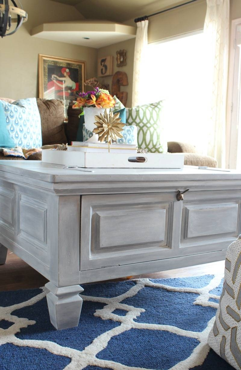 How To Paint Furniture With A Car Wash Sponge - Refunk My Junk with regard to Grey Wash Wood Coffee Tables (Image 26 of 30)