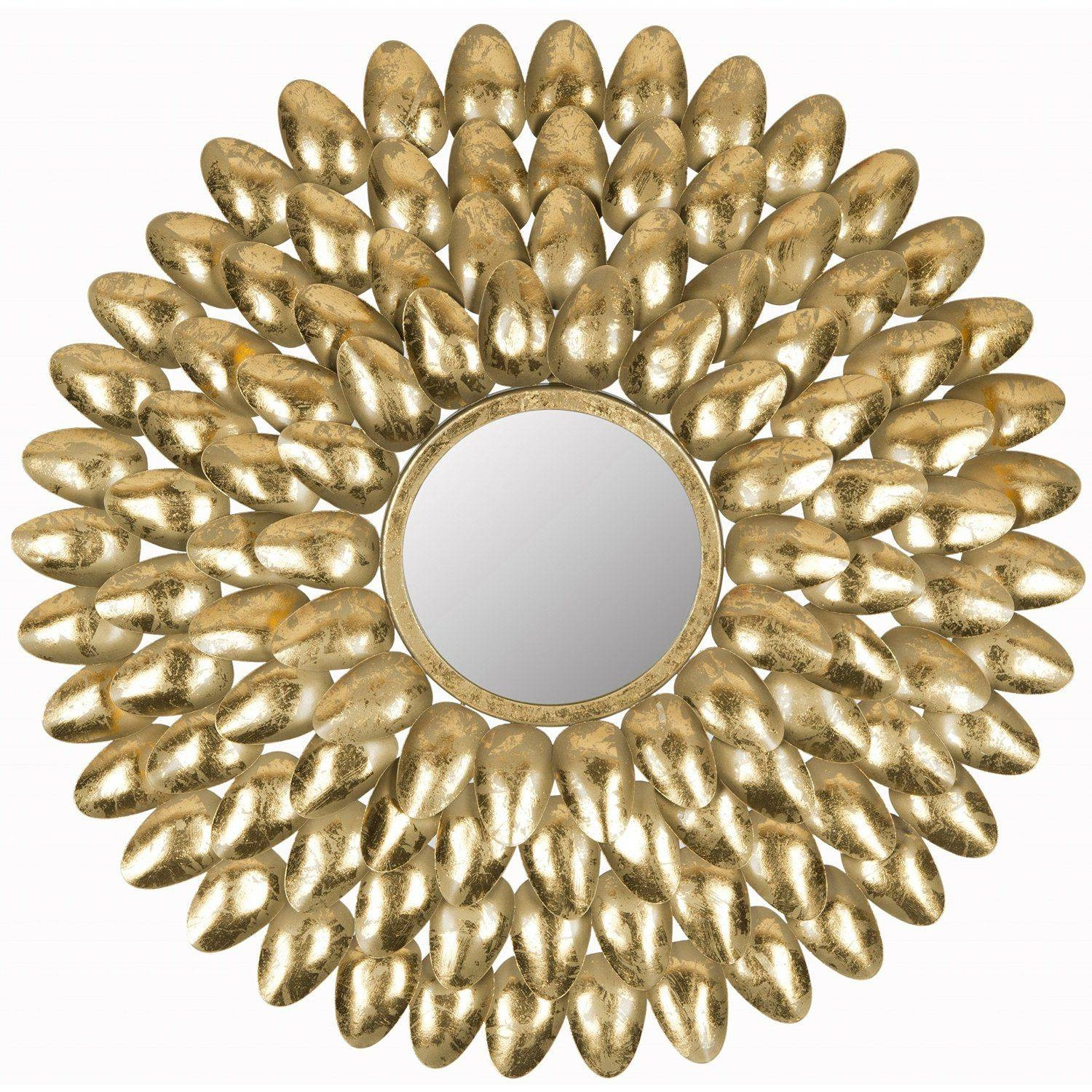 How To Use Mirrors To Create Good Feng Shui for Small Gold Mirrors (Image 14 of 25)