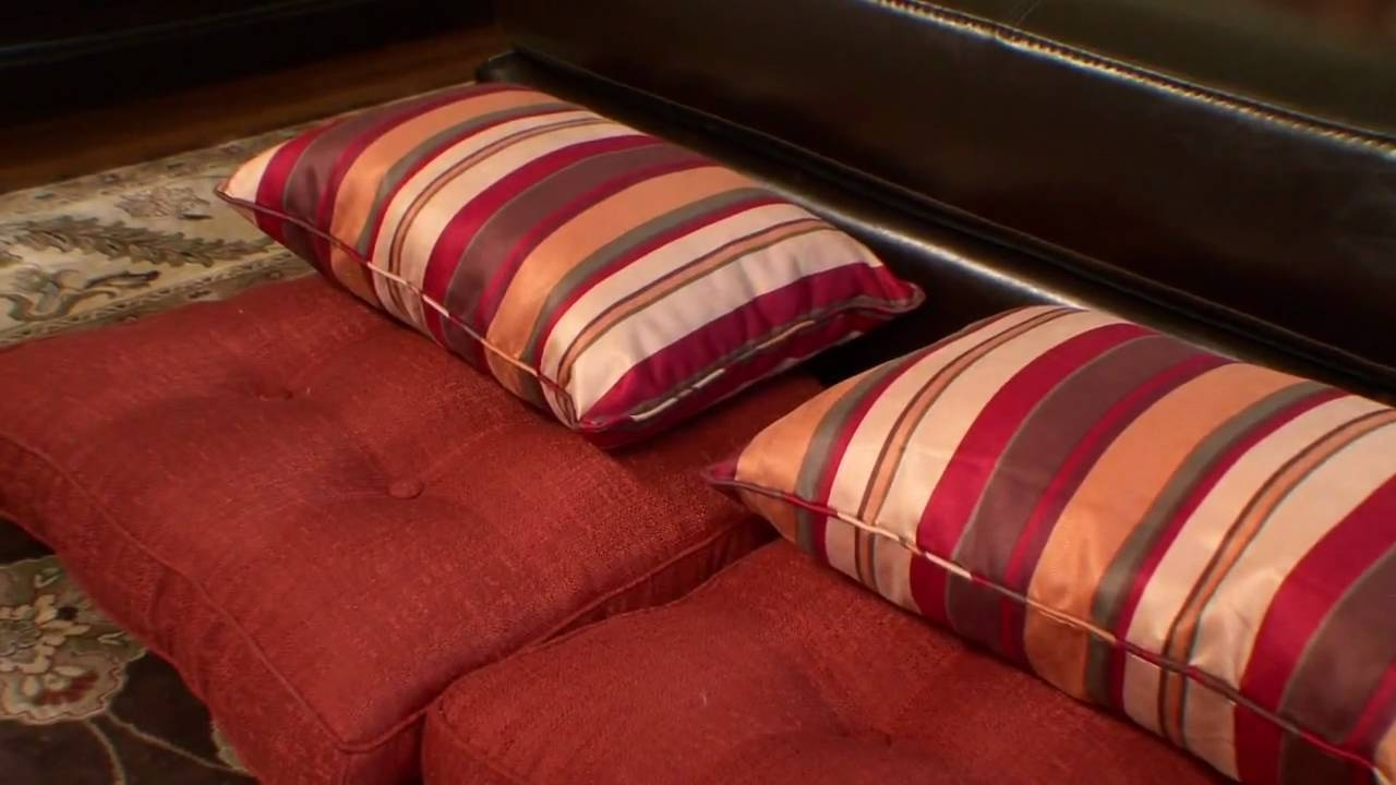 How To Use Pillows As Floor Seating - Youtube with regard to Moroccan Floor Seating (Image 17 of 30)
