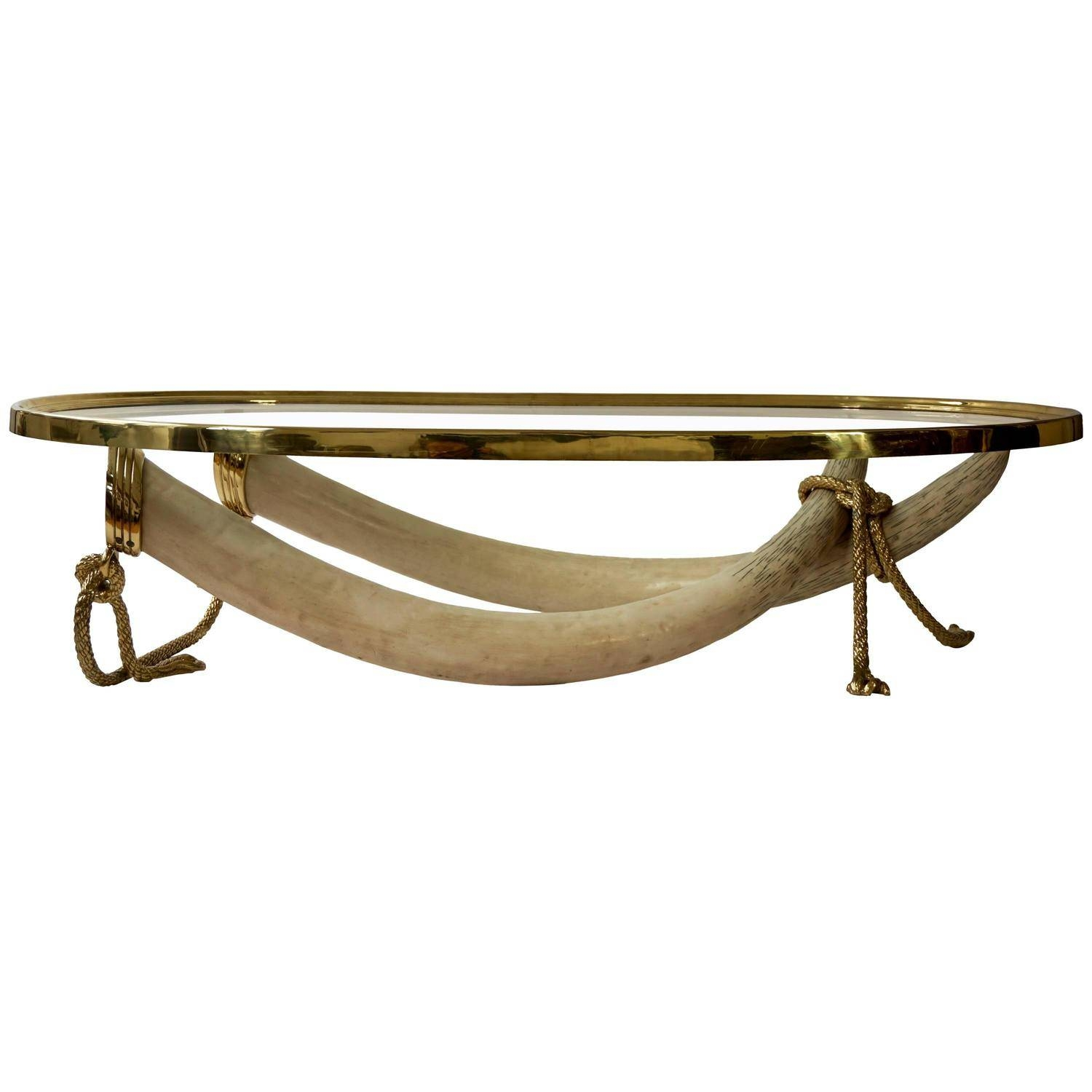 Huge Bronze And Brass Elephant Tusk Coffee Tableitalo Valenti throughout Elephant Coffee Tables (Image 23 of 30)