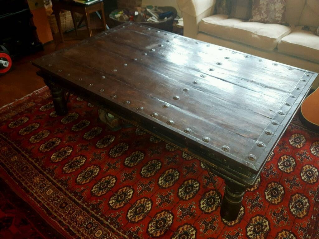 Huge Indian Ethnic Coffee Table Antique | In Norwich, Norfolk regarding Ethnic Coffee Tables (Image 15 of 30)
