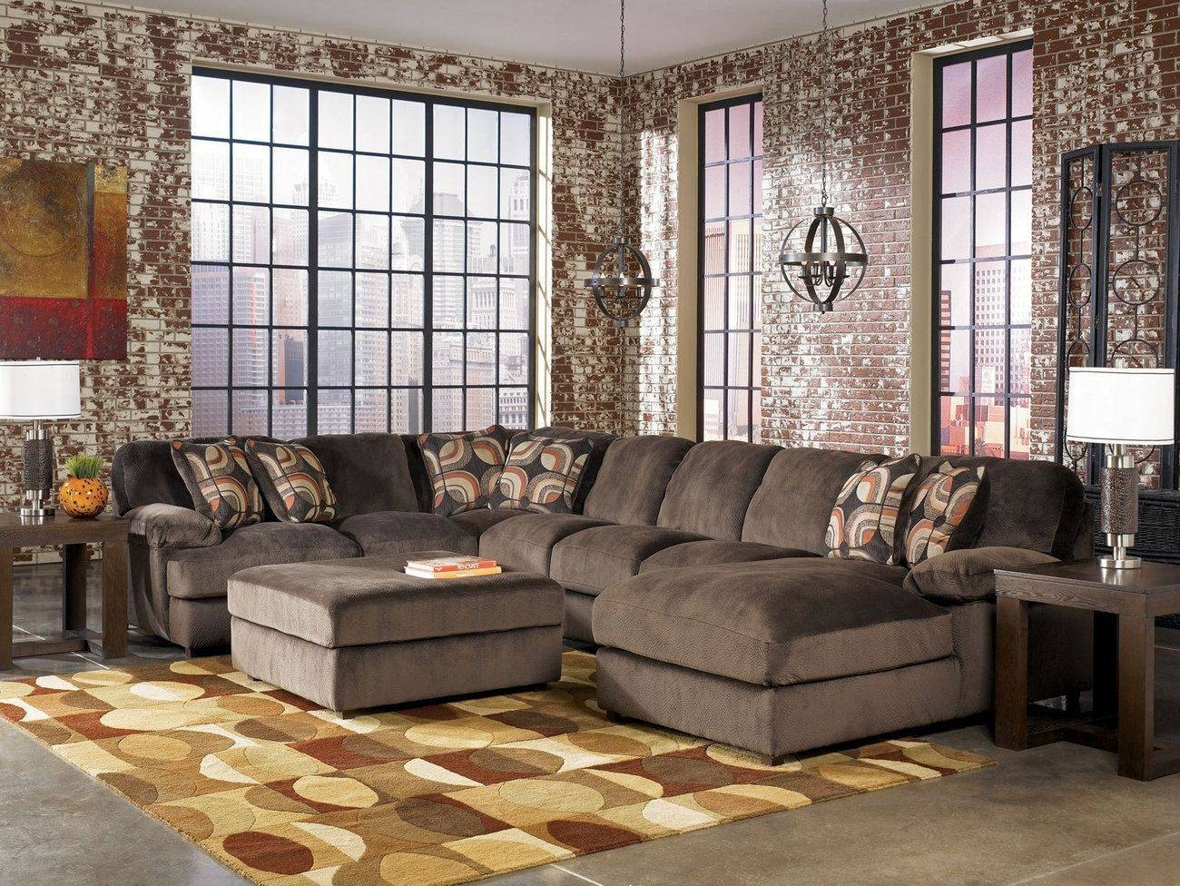 Huge Sectional Sofa. Grey Sectionals With Chaise Chamberly Alloy 4 in Extra Large Sectional Sofas (Image 15 of 30)
