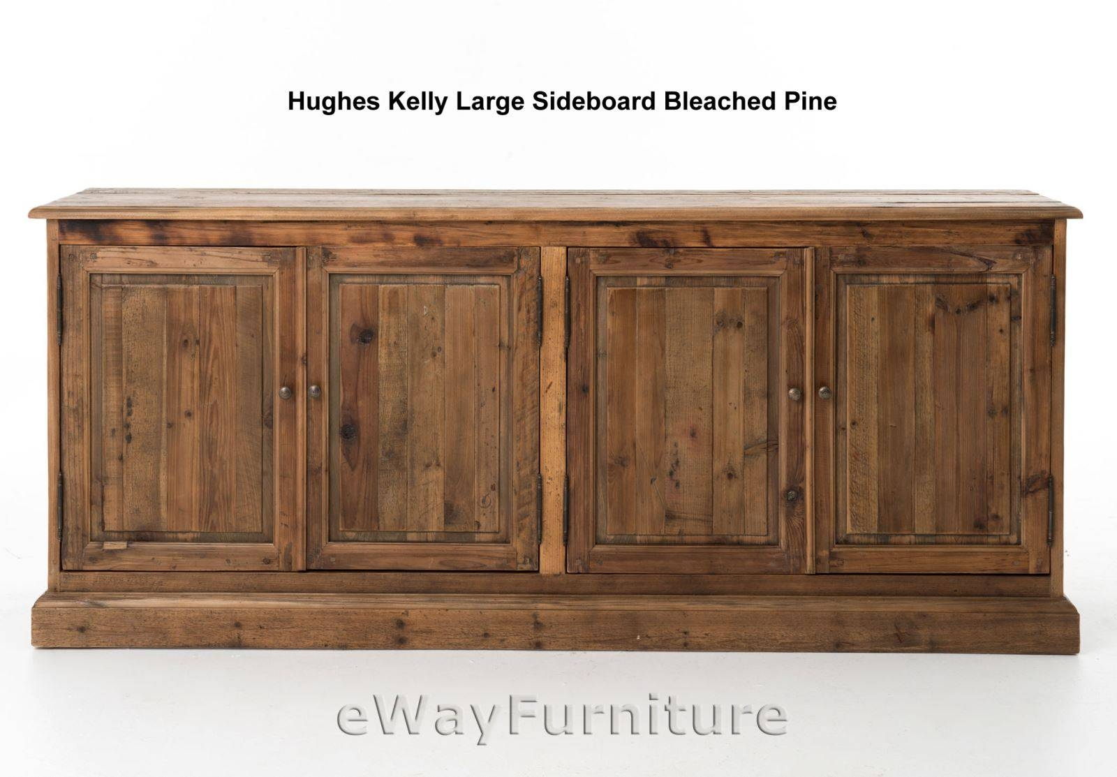 Hughes Kelly Large Sideboard Dining Room Furniture Bleached Pine with Four Hands Sideboards (Image 17 of 30)