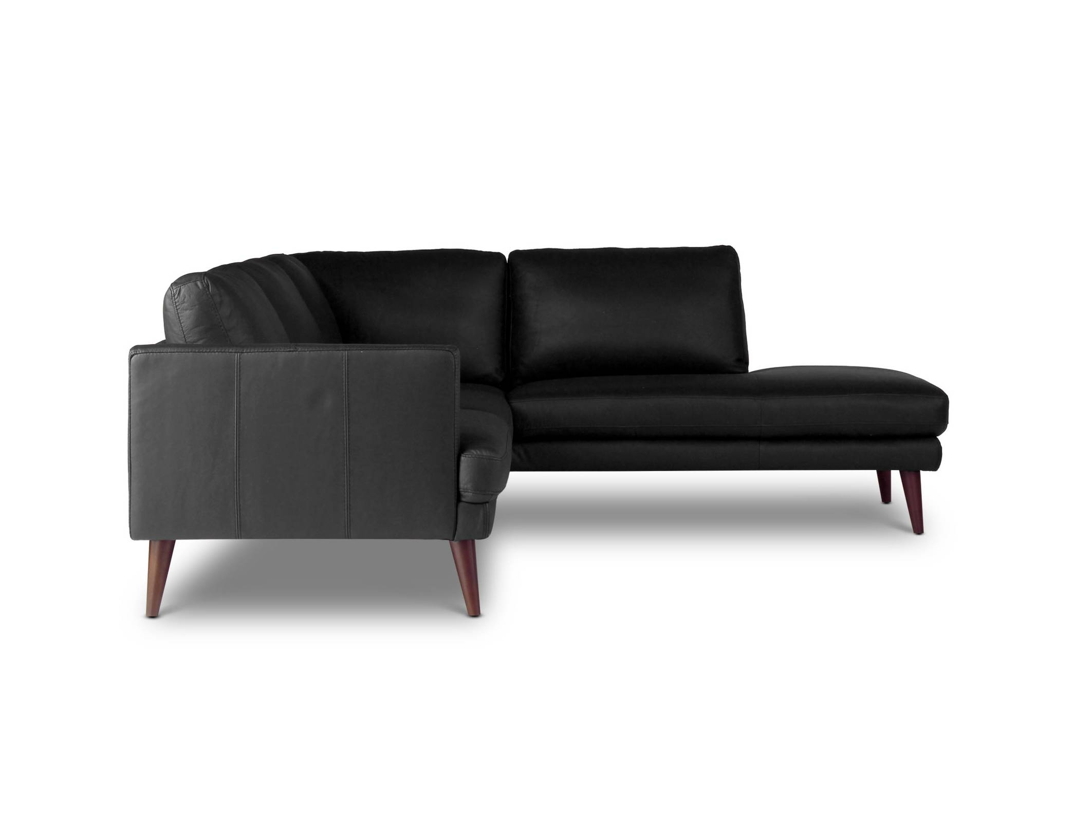 Hugo Leather - Corner Sofa | Loungelovers with Leather Corner Sofa Bed (Image 19 of 30)