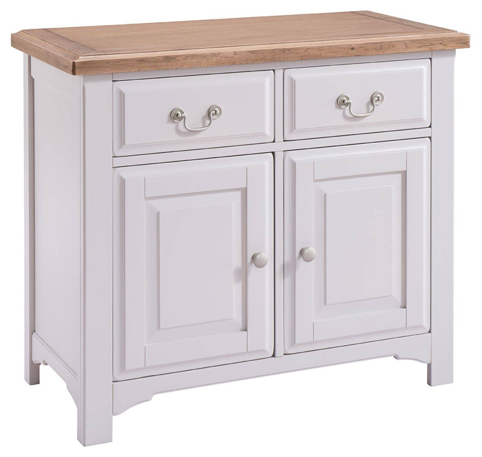 Hutch® - Buxton Light Grey Painted Small Sideboard with regard to Small Sideboards With Drawers (Image 9 of 30)