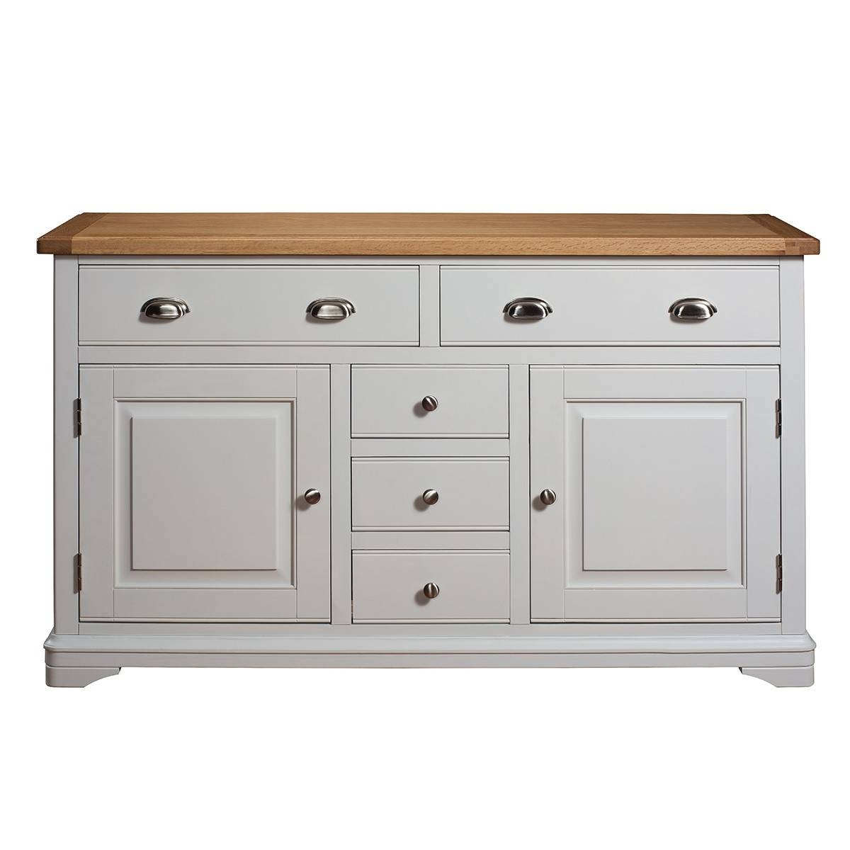 Hutch® - Harbury Light Grey Painted Large Sideboard in Grey Sideboards (Image 10 of 30)