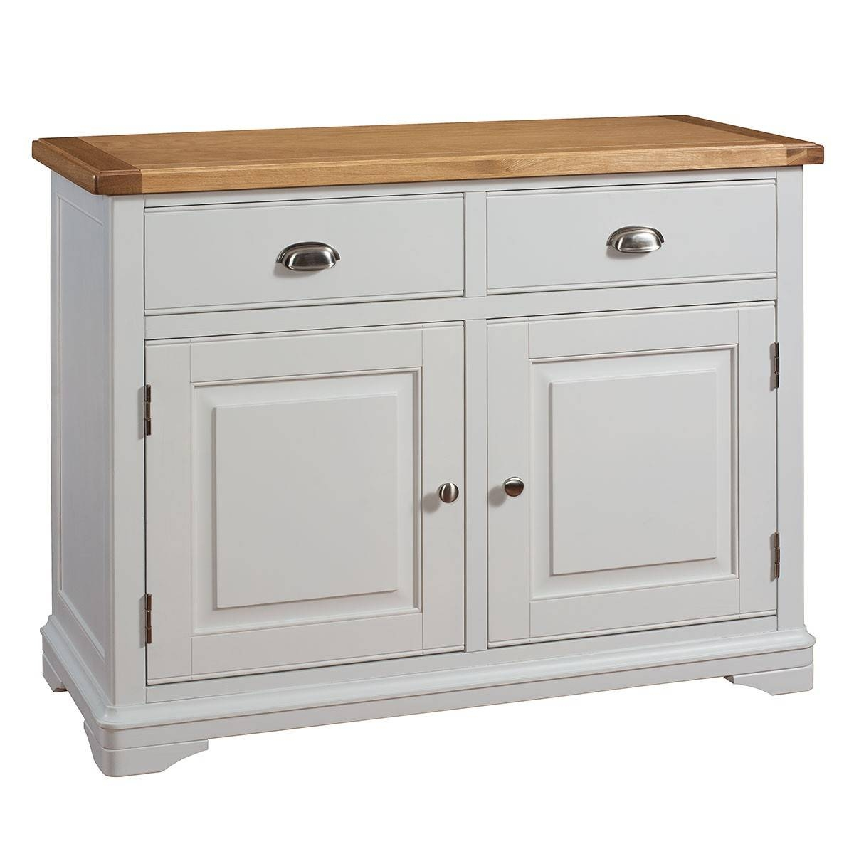 Hutch® - Harbury Light Grey Painted Small Sideboard pertaining to Light Oak Sideboards (Image 7 of 30)
