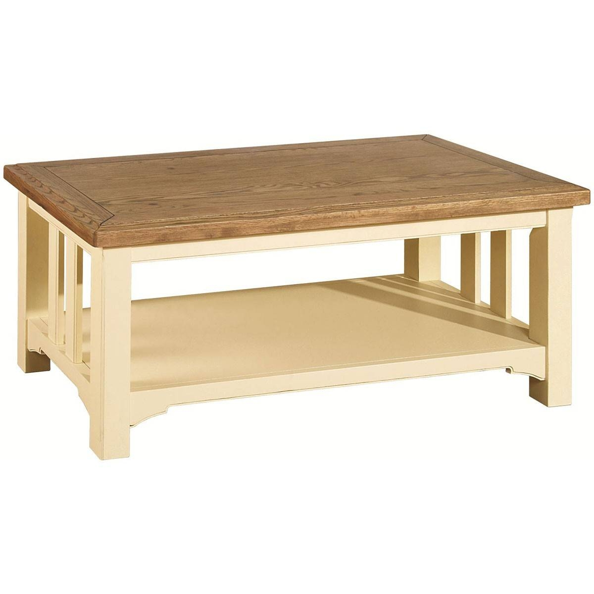 Hutch® - Havannah Cream Painted Oak Coffee Table with Cream And Oak Coffee Tables (Image 25 of 30)