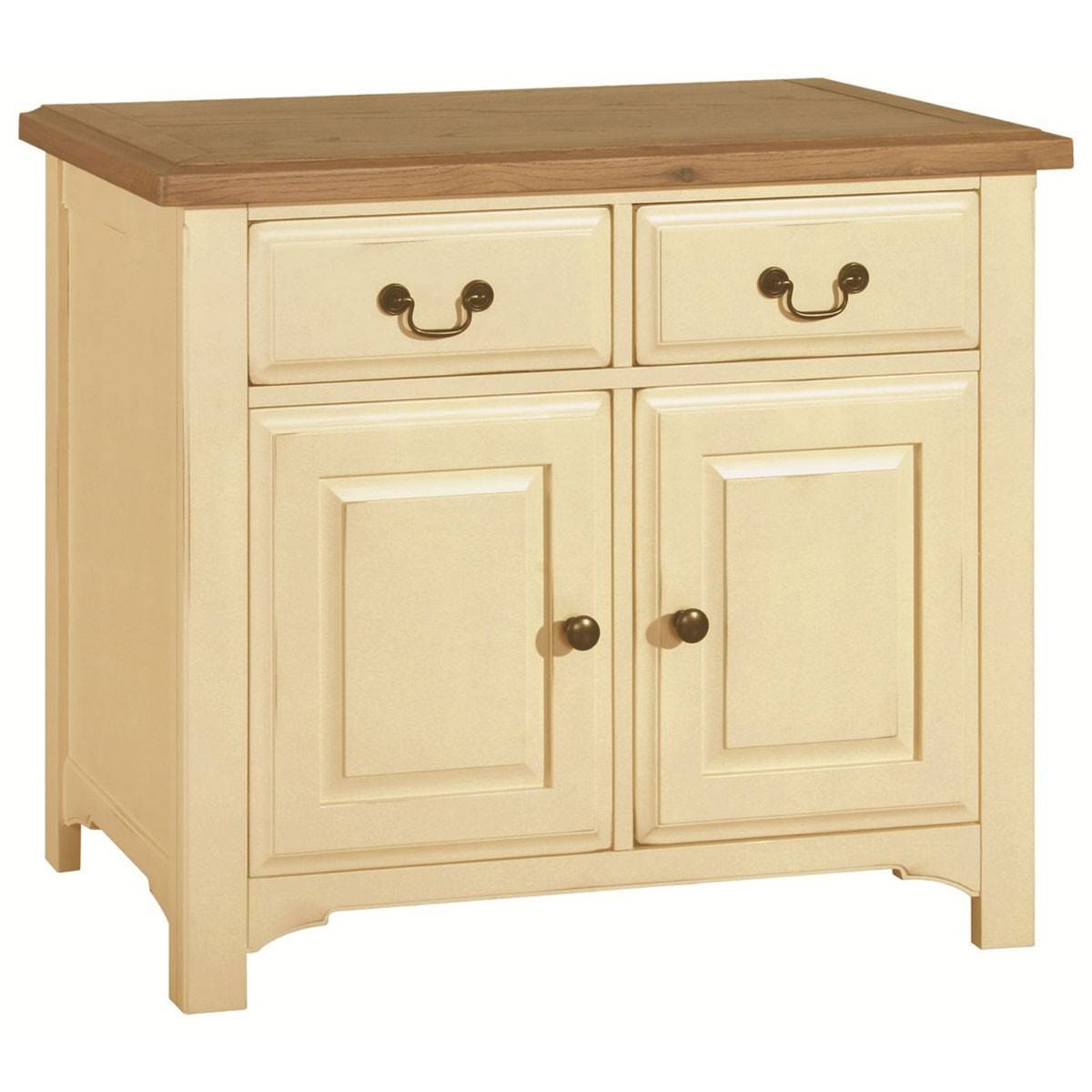 Hutch® - Havannah Cream Painted Oak Small Sideboard for Cream Sideboards (Image 10 of 30)