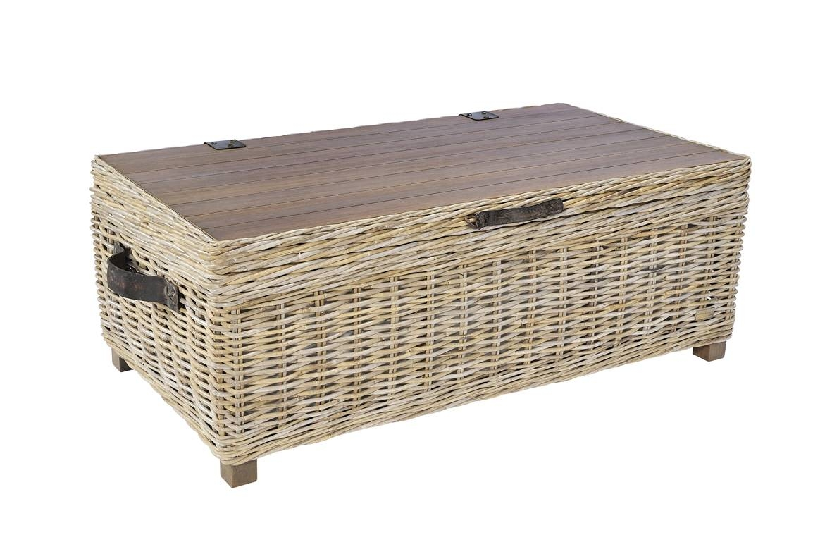 Hutch® - Maze Grey Wash Rattan Storage Coffee Table inside Grey Wash Coffee Tables (Image 26 of 30)