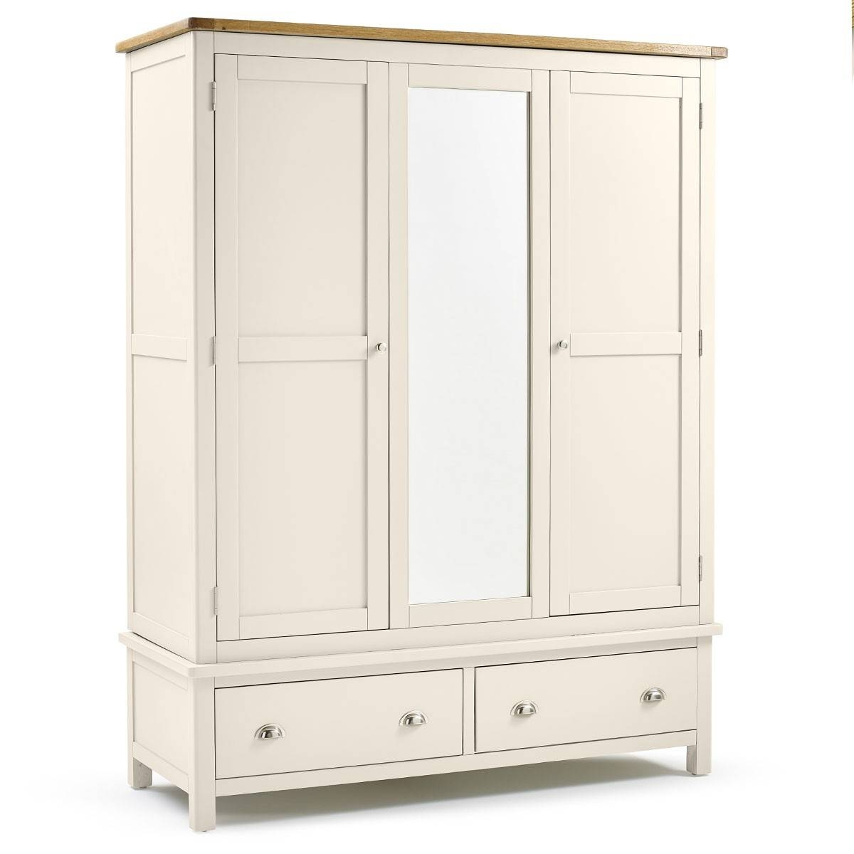Hutch® – Portsmouth Cream Painted Triple Wardrobe Regarding Cream Triple Wardrobes (View 7 of 15)