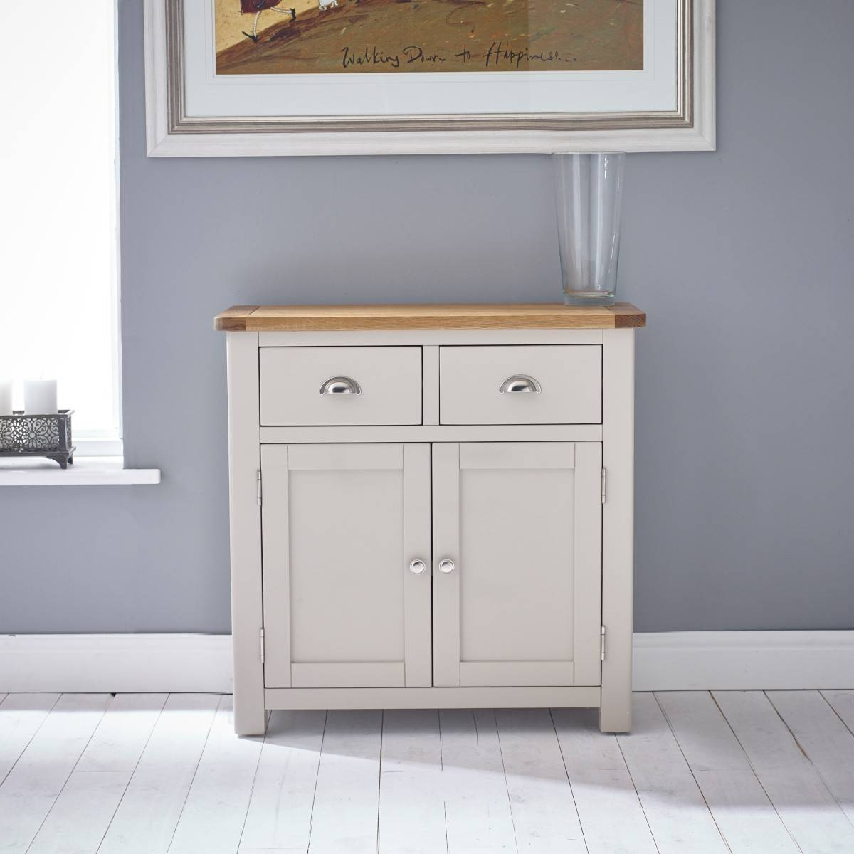 Hutch® - Portsmouth Stone Grey Painted Small Sideboard in Grey Sideboards (Image 12 of 30)