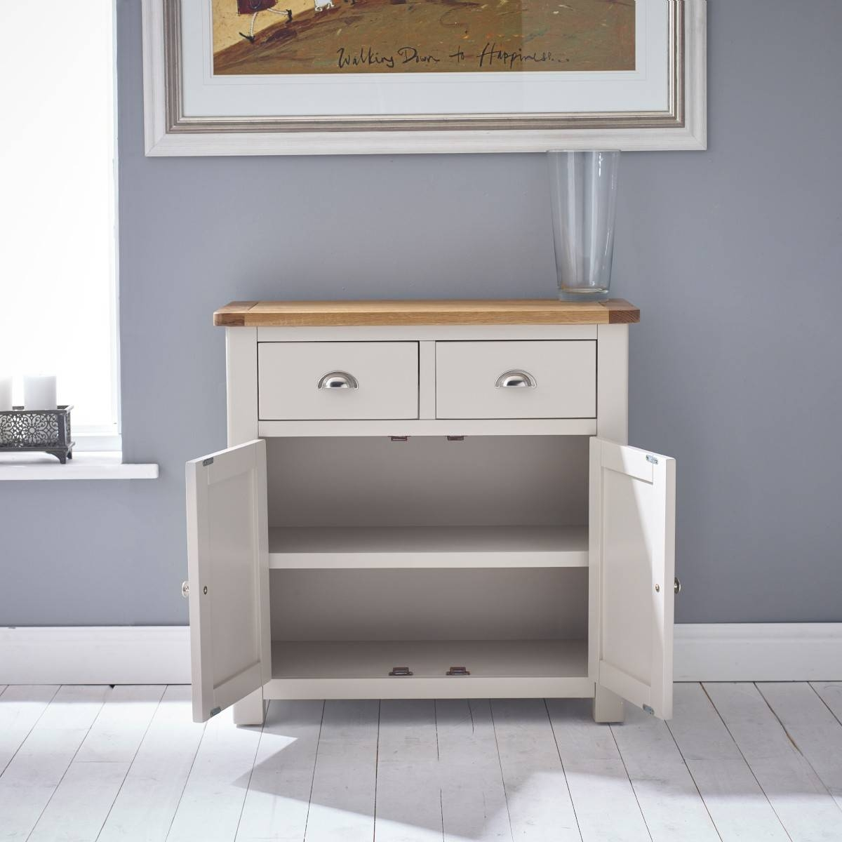 Hutch® – Portsmouth Stone Grey Painted Small Sideboard Within Small Sideboards With Drawers (View 10 of 30)
