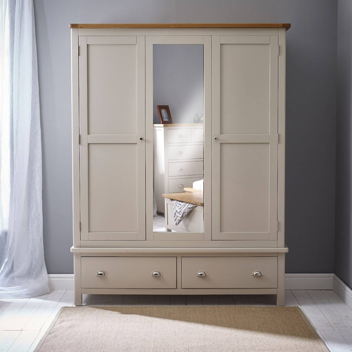 Featured Photo of Grey Painted Wardrobes