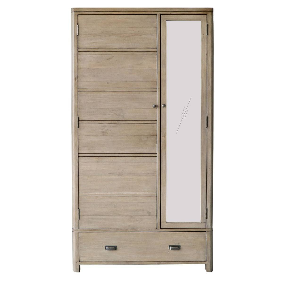 Hutch® - Tenby Reclaimed Pine Double Wardrobe pertaining to Pine Double Wardrobes (Image 10 of 15)