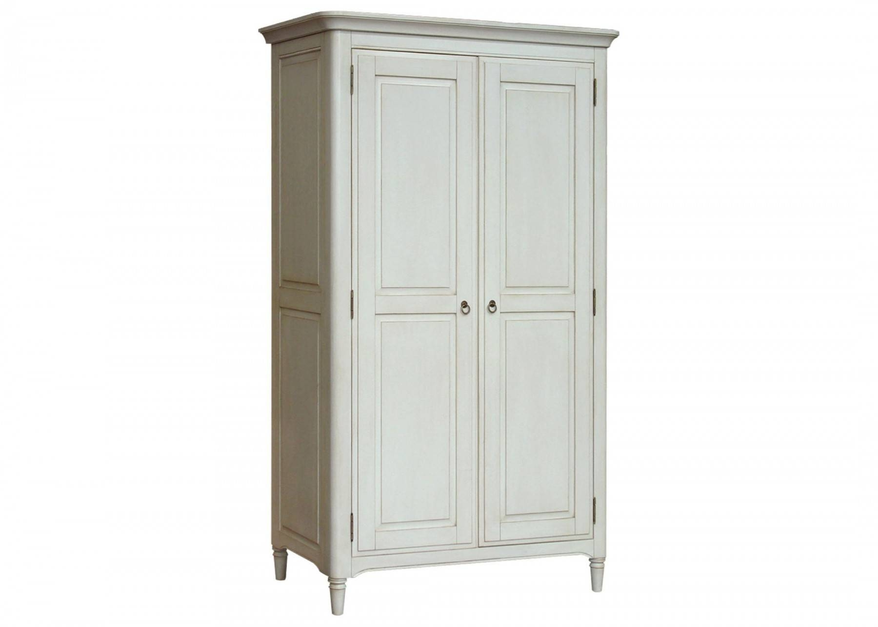 Hutch® - Tiffany White Painted Ladies Full Hanging Double Wardrobe pertaining to White Painted Wardrobes (Image 7 of 15)