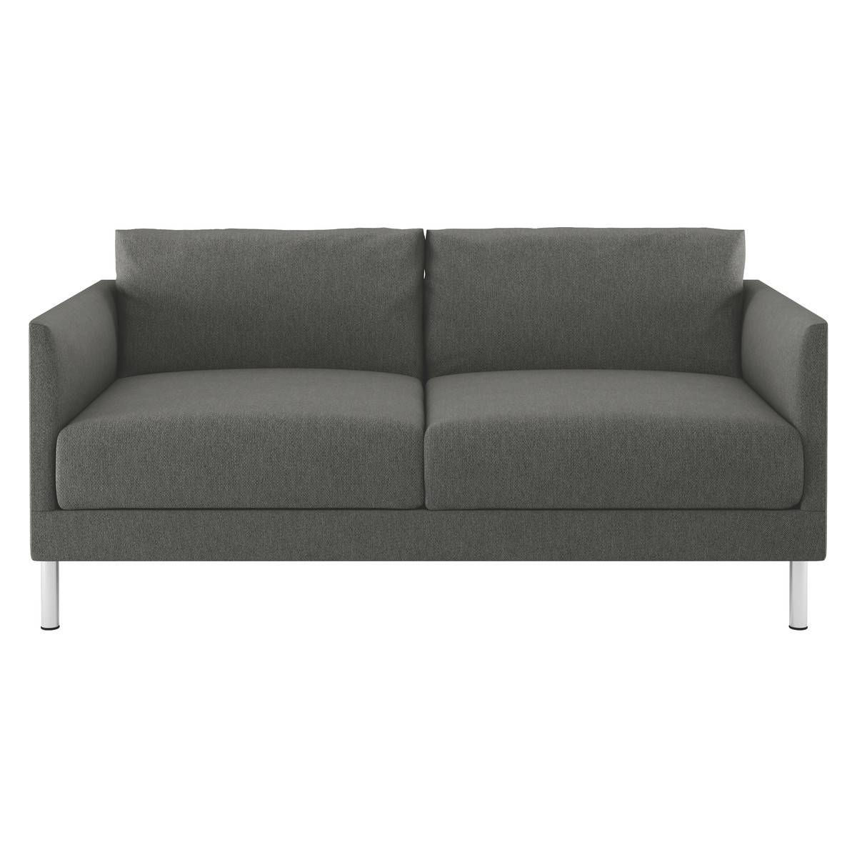 Hyde Charcoal Fabric 2 Seater Sofa, Metal Legs | Buy Now At Habitat Uk intended for 2 Seater Sofas (Image 12 of 30)