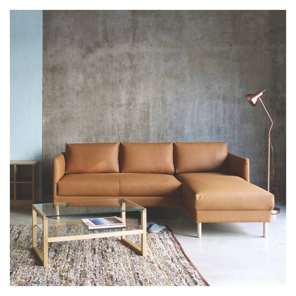Hyde Cream Leather 2 Seater Sofa, Wooden Legs | Buy Now At Habitat Uk in Wood Legs Sofas (Image 15 of 30)