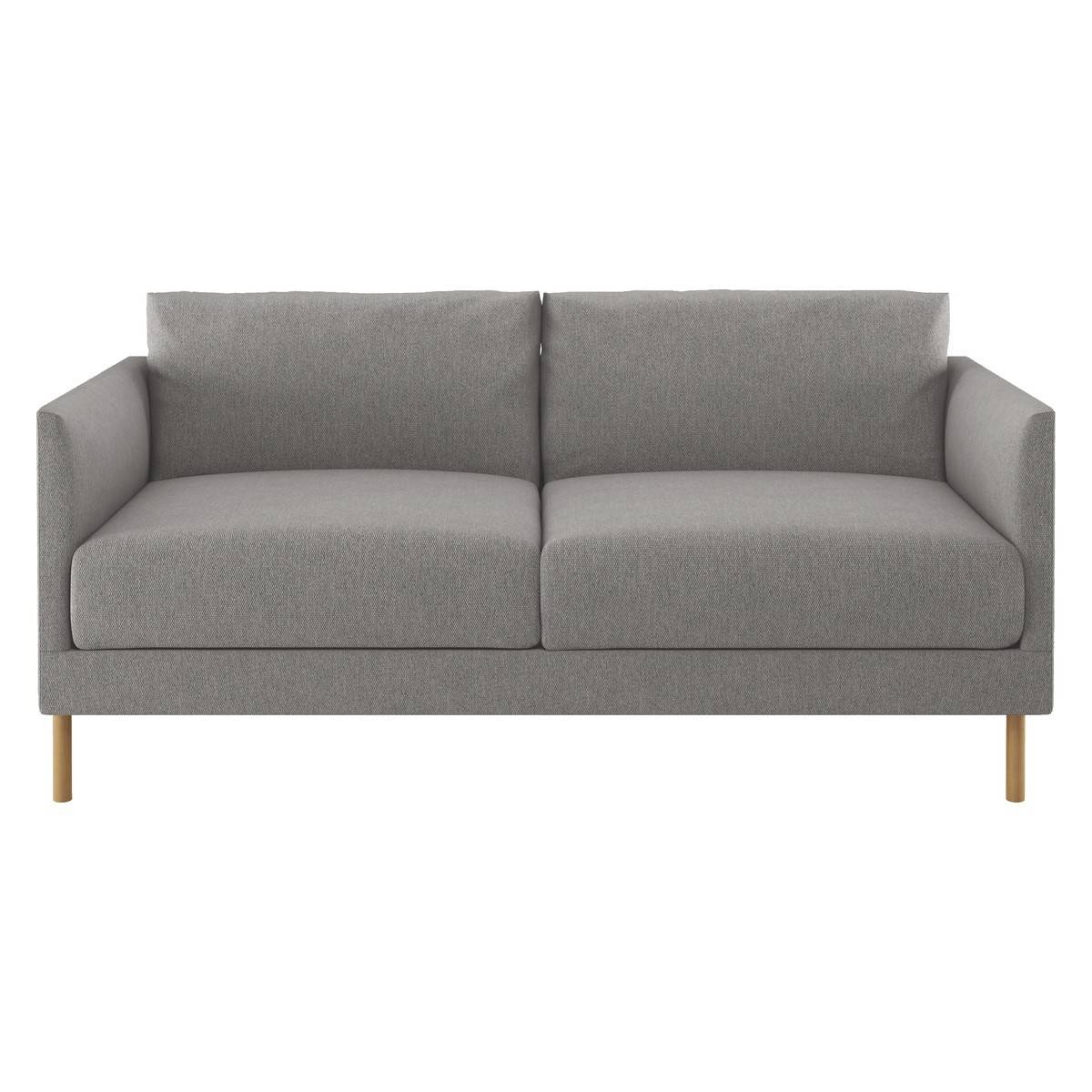 Hyde Grey Fabric 2 Seater Sofa, Wooden Legs | Buy Now At Habitat Uk throughout Two Seater Sofas (Image 15 of 30)