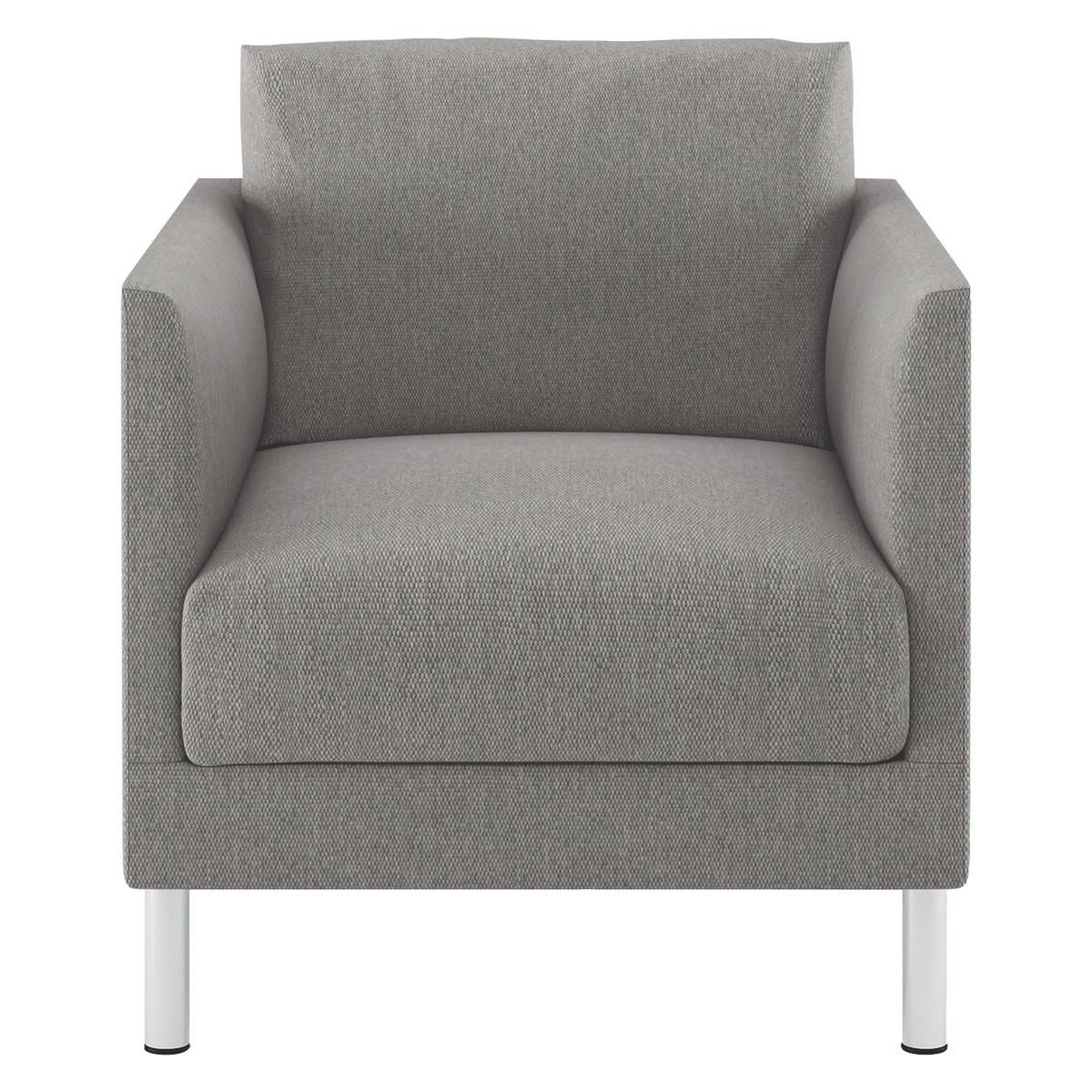 Hyde Grey Fabric Armchair, Metal Legs | Buy Now At Habitat Uk throughout Fabric Armchairs (Image 19 of 30)