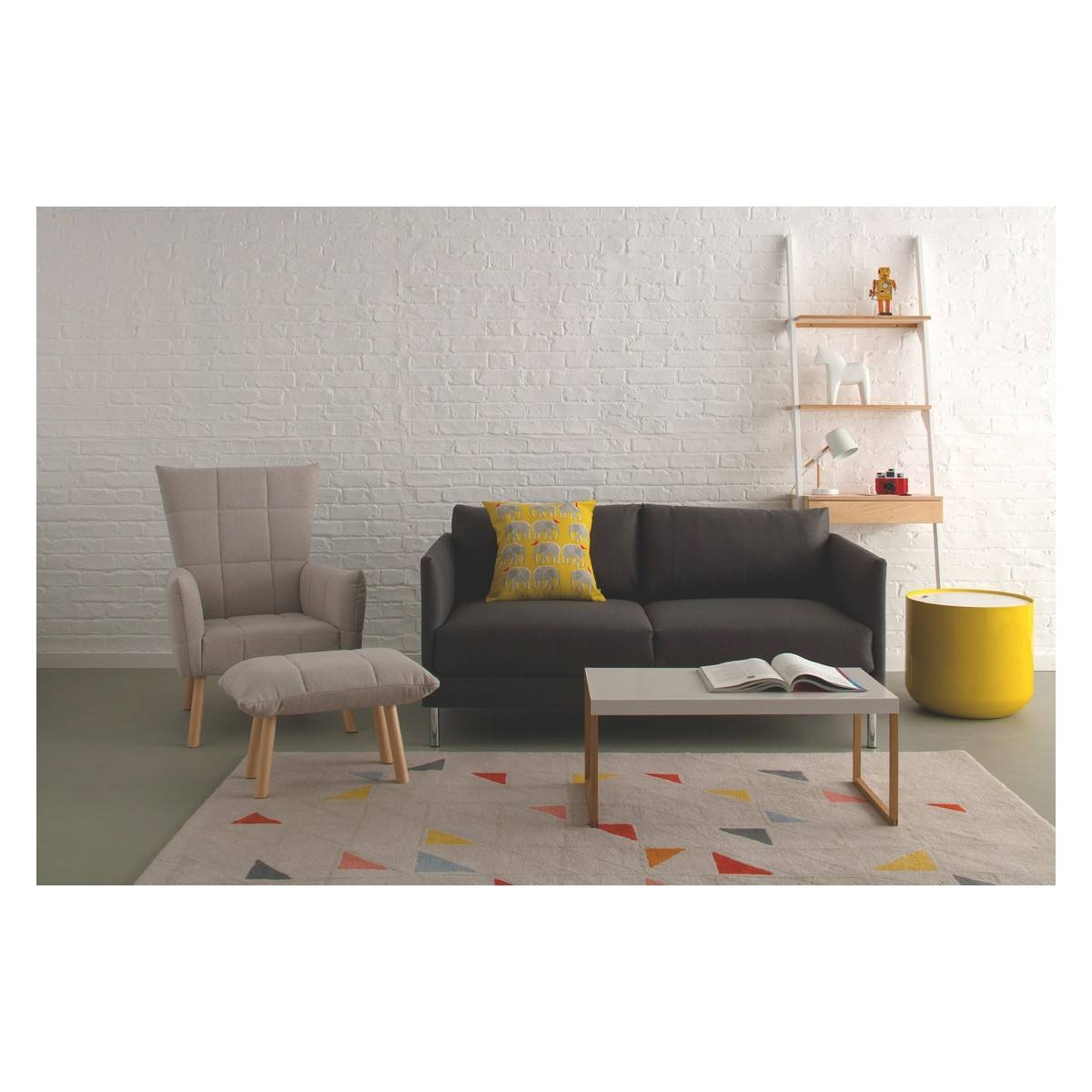 Hyde Teal Blue Fabric 2 Seater Sofa, Wooden Legs | Buy Now At inside Wood Legs Sofas (Image 19 of 30)