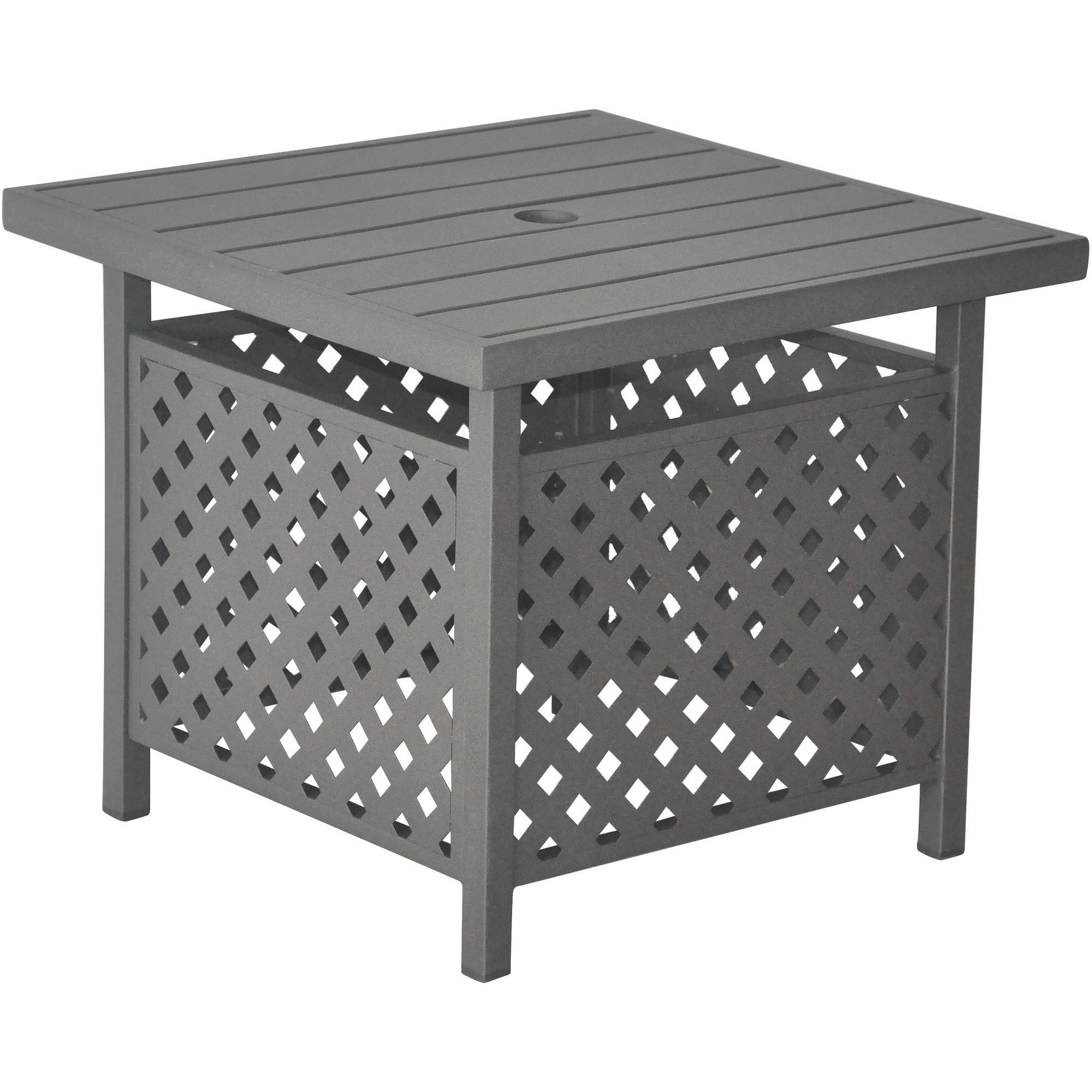 I Love Living Retro Glitz Glass/ Metal End Table – Walmart With Regard To Retro Glitz Glass Coffee Tables (View 18 of 30)