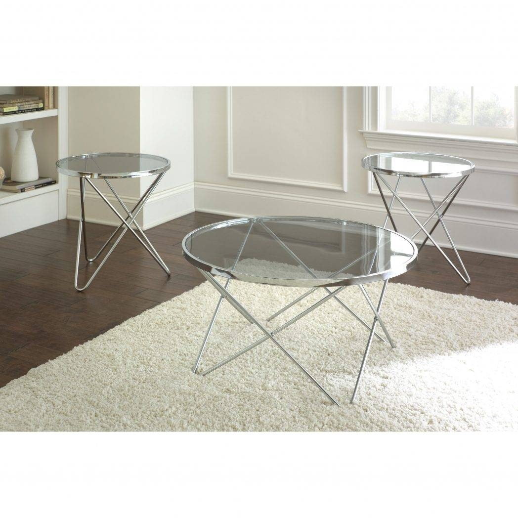 Ibiza Round Glass And Chrome Coffee Table Accent Tables Living In Glass And Silver Coffee Tables (View 15 of 30)