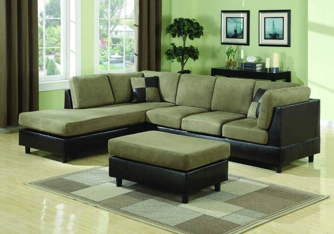 Ideas: Comfortable Green Deep Sectional Sofa With Green Ottoman inside Green Ottoman Coffee Tables (Image 23 of 30)