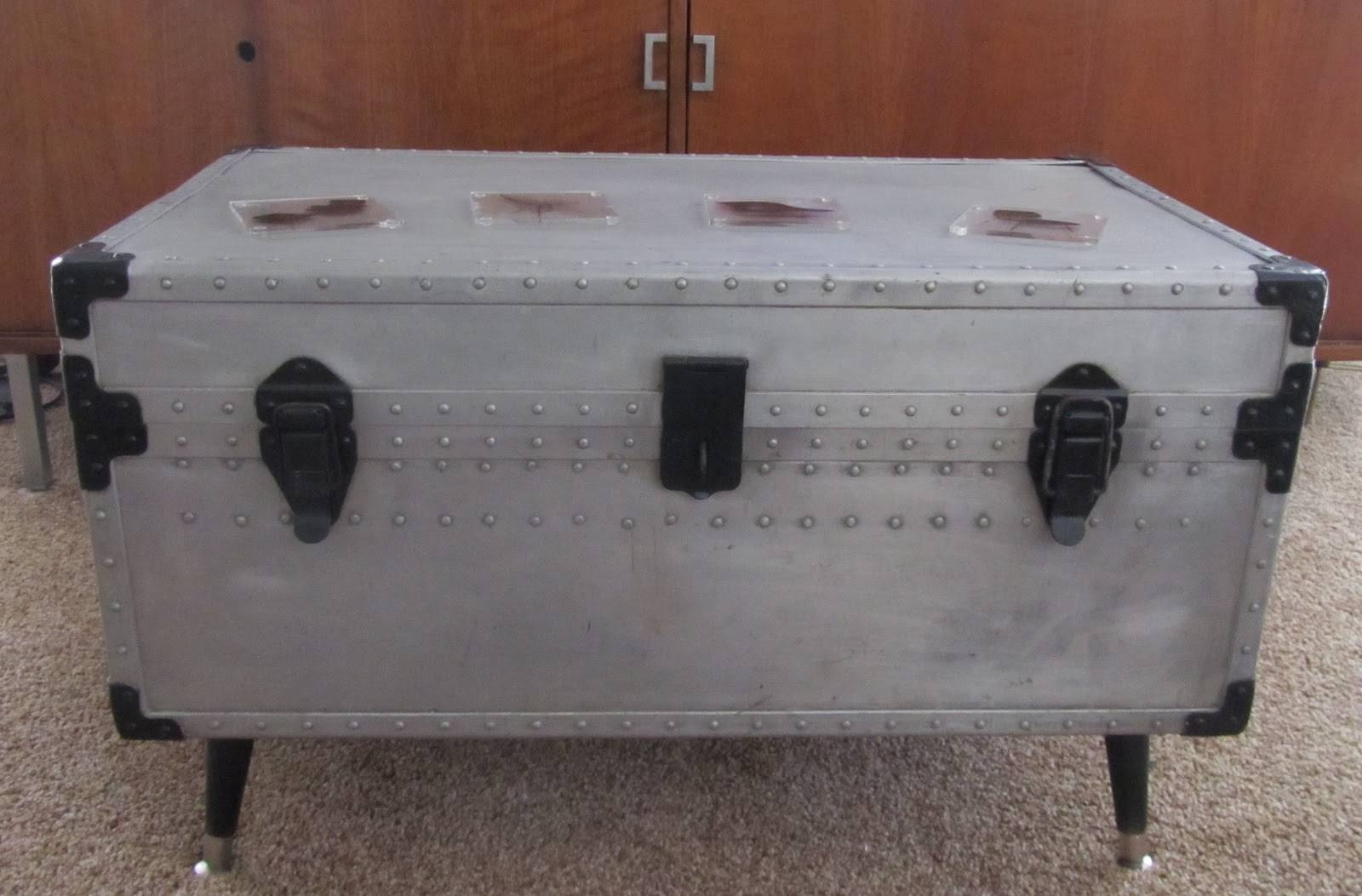 Ideas For Painting A Steamer Trunk Coffee Table intended for Old Trunks As Coffee Tables (Image 15 of 30)