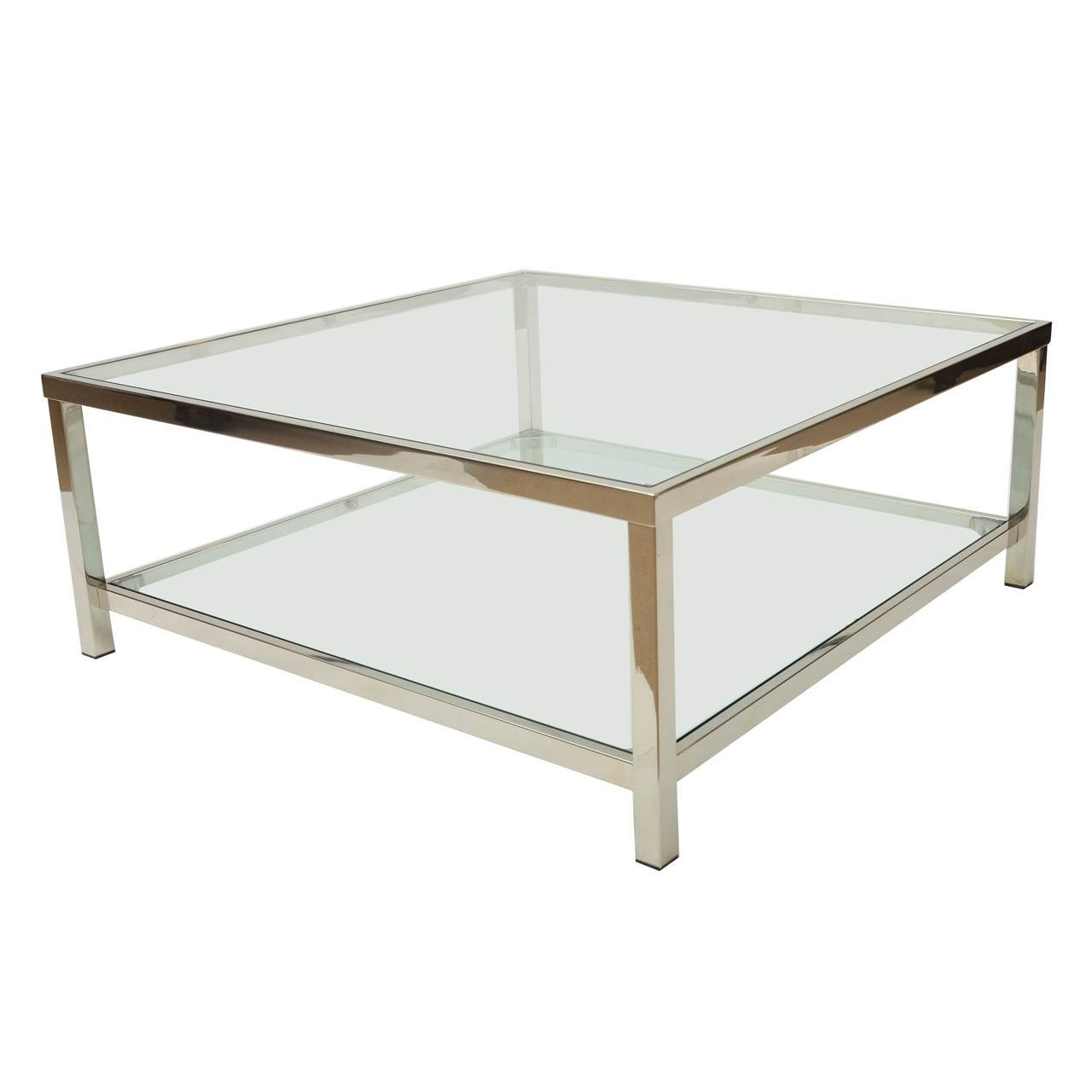 Ideas For Square Coffee Tables — Interior Home Design regarding Glass And Chrome Coffee Tables (Image 16 of 30)