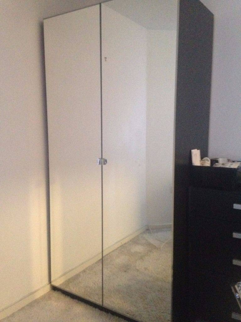 Ikea Double Multi Storage Wardrobe With Mirror Front | In Derby with regard to Double Wardrobes With Mirror (Image 5 of 15)