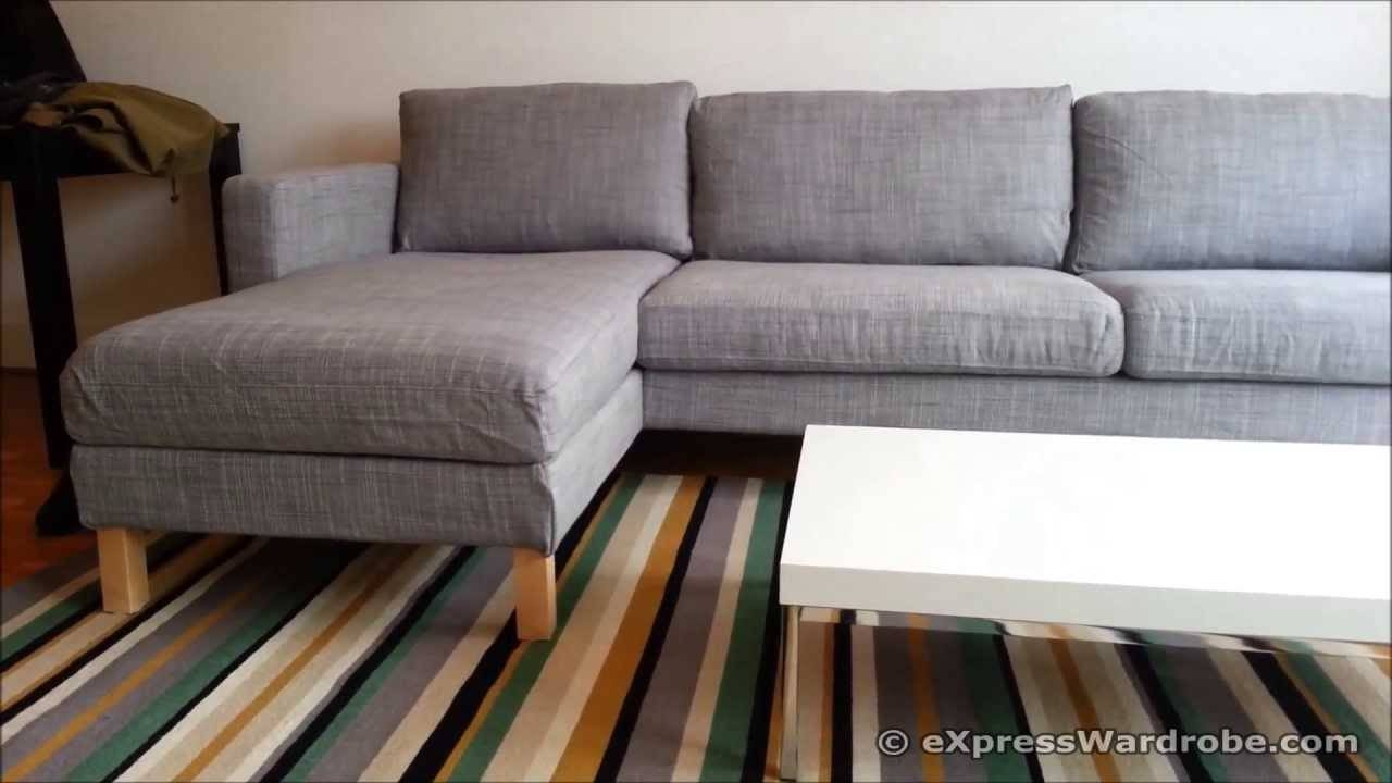 Ikea Karlstad Sofa And Chaise Longue Design - Youtube throughout Ikea Chaise Lounge Sofa (Image 14 of 30)