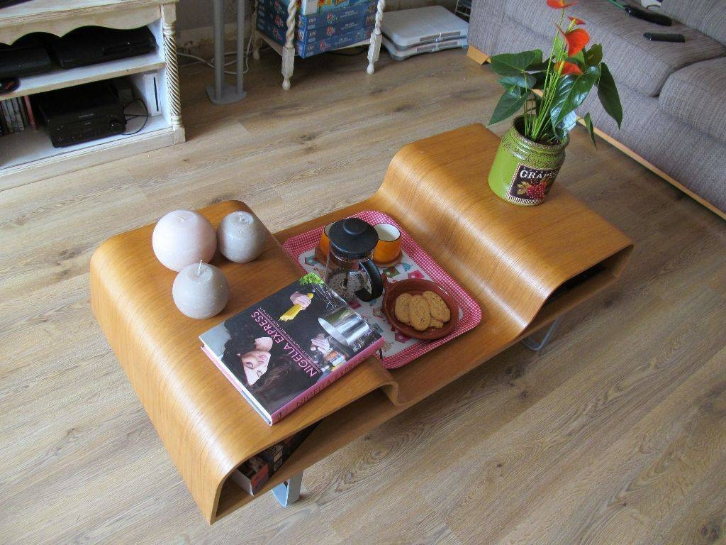 Ikea Lagfors Bentwood Retro Style Coffee Table Storage Bent Wood With Regard To Curve Coffee Tables (View 16 of 30)