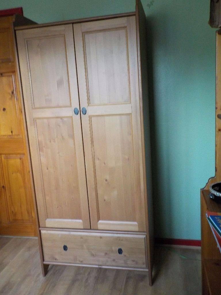 Ikea Leksvik Single Wardrobe, Antique Pine, Ideal For Kids within Kids Pine Wardrobes (Image 7 of 15)