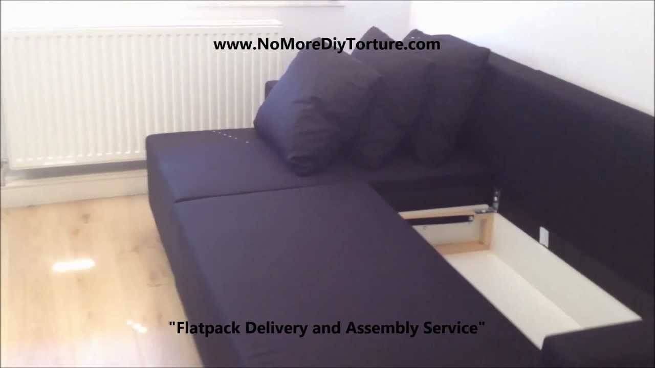 Ikea Lugnvik Corner Sofa-Bed With Storage V2 - Youtube inside Storage Sofa Ikea (Image 16 of 25)