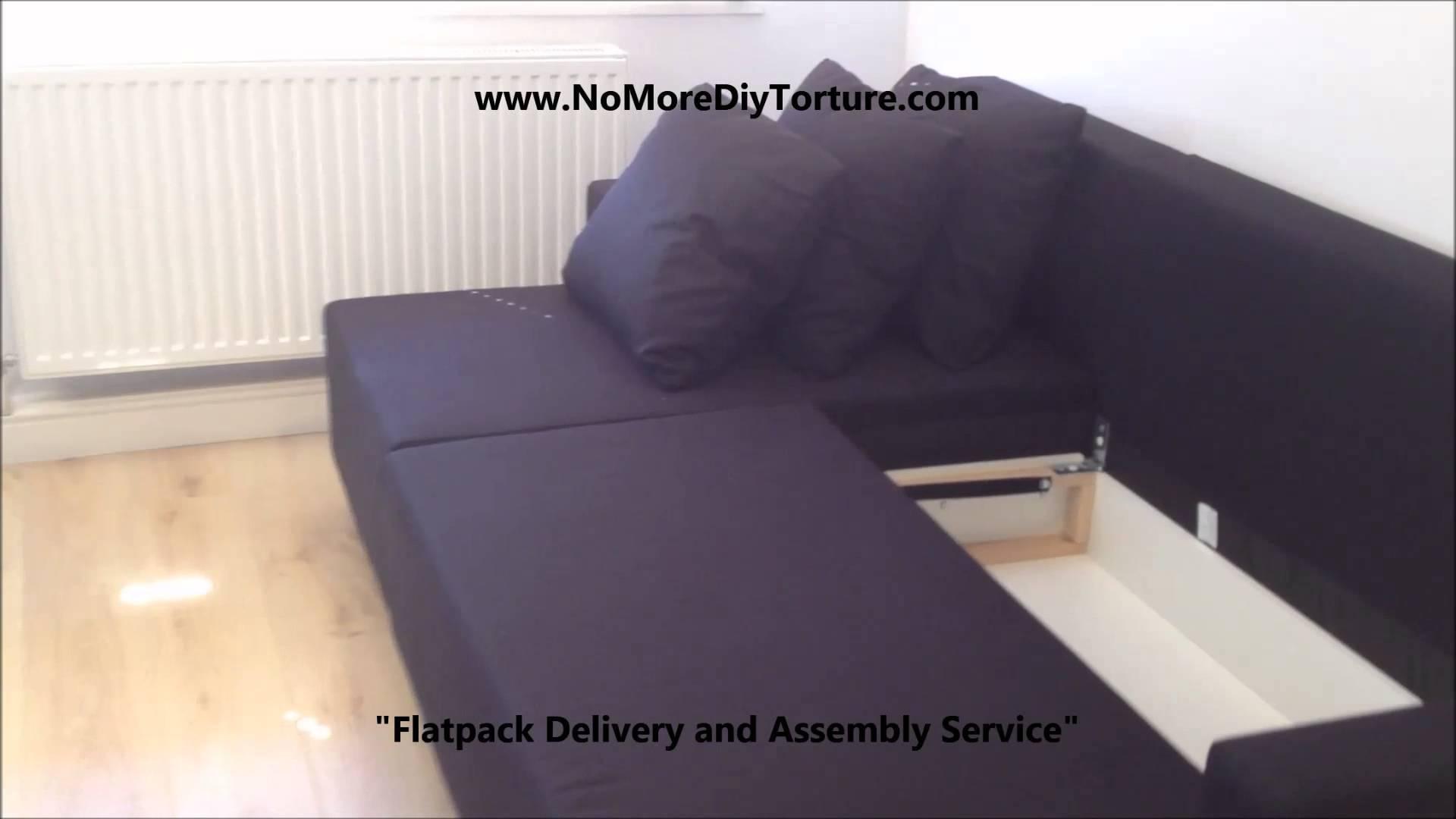 Ikea Lugnvik Corner Sofa-Bed With Storage - Youtube pertaining to Storage Sofa Ikea (Image 15 of 25)