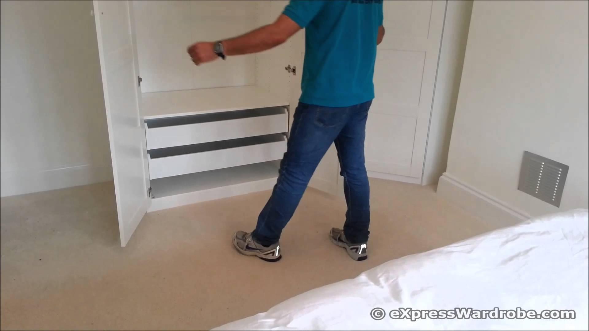 Ikea Pax Corner Wardrobe Design - Youtube throughout Corner Wardrobe Closet Ikea (Image 14 of 30)