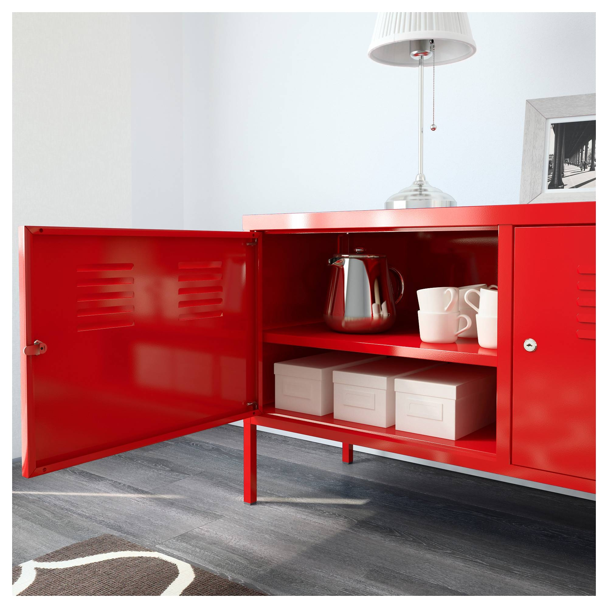 Ikea Ps Cabinet - Red - Ikea throughout Red Sideboards (Image 13 of 30)