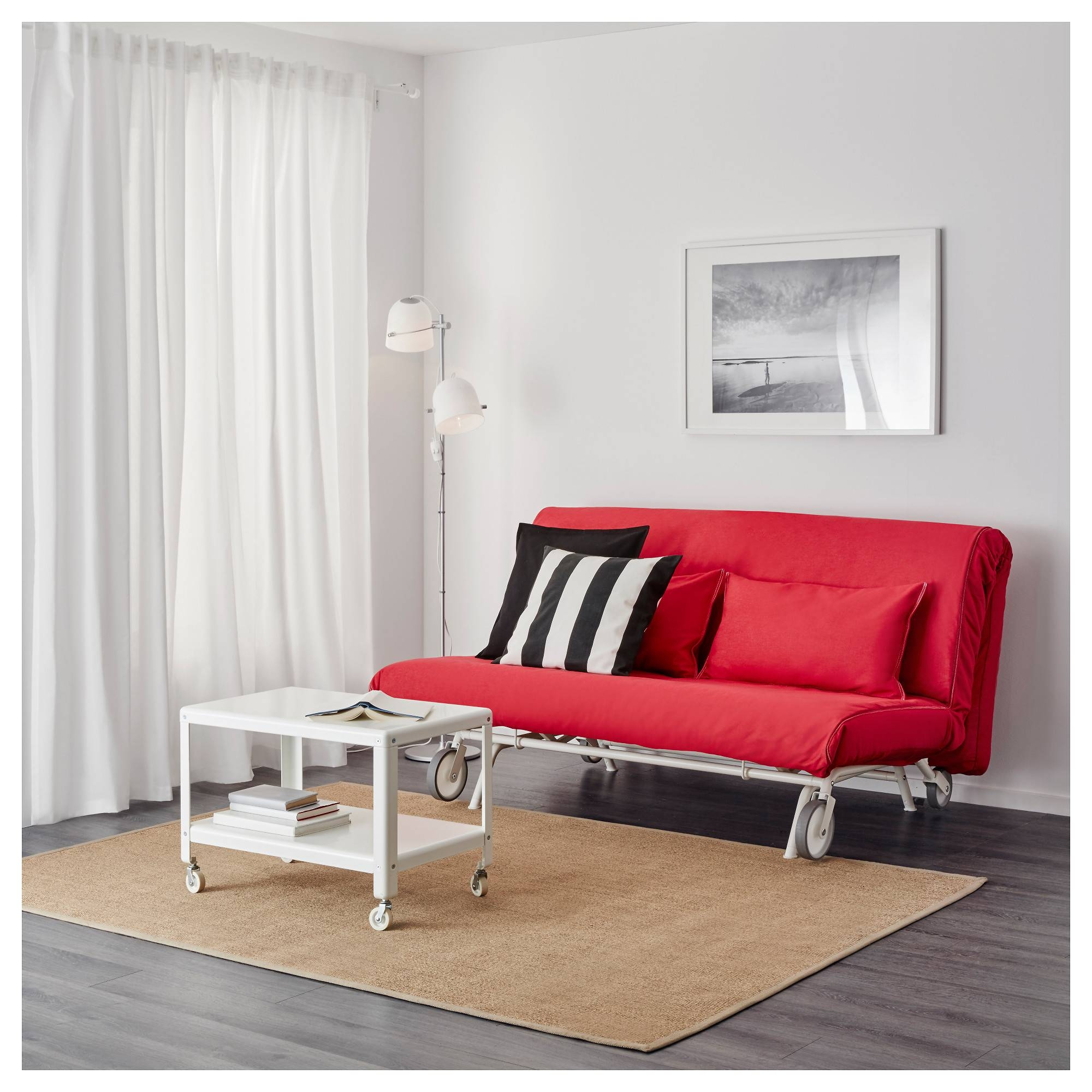 2020 Latest Red Sofa Beds Ikea